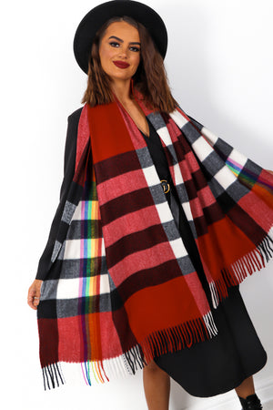 Chelsea Girl - Red Rainbow Scarf