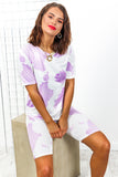 Co-ord Coordinate cycle shorts and top lilac -DLSB womens fashion