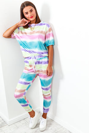 Co-ord Coordinate Set Top Joggers Tie Dye- DLSB Women's Fashion