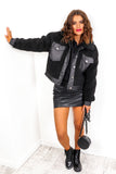 Crop It - Black Faux Fur Cropped Jacket