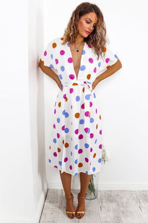 Going Polka Dotty - Dress In MULTI/POLKA-DOT