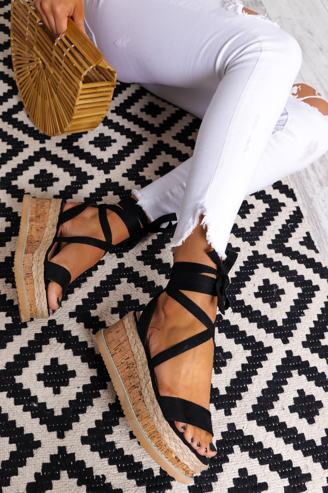 Ibiza Vibes - Sandals In BLACK