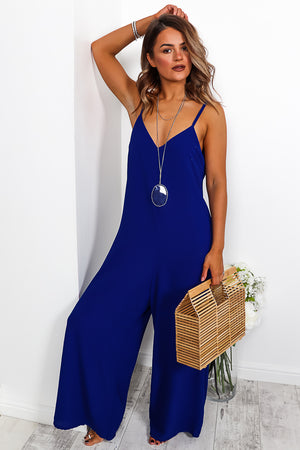 Eternal Summer - Jumpsuit In ROYAL - DLSB