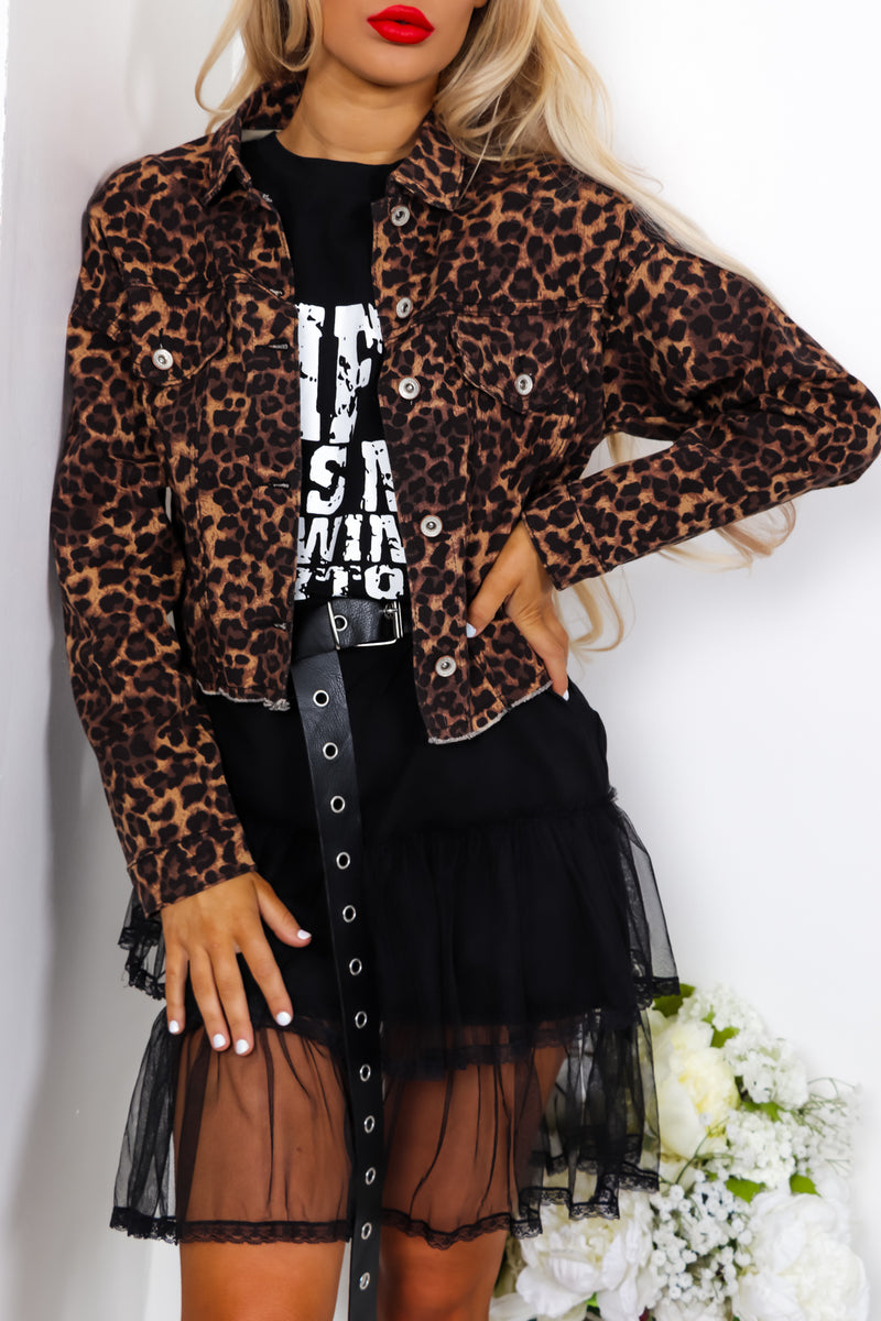 If Looks Could Kill - Cropped Jacket In LEOPARD
