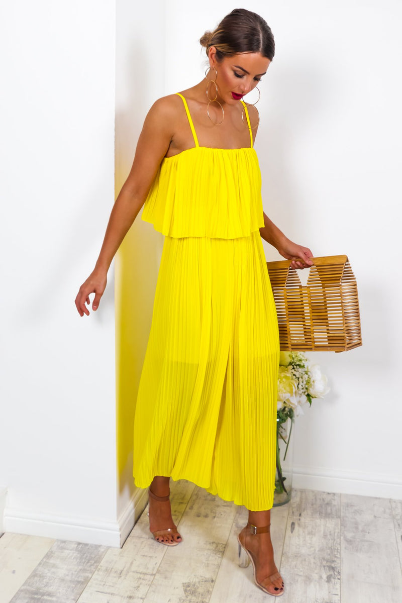 Got The Jump - Jumpsuit In YELLOW