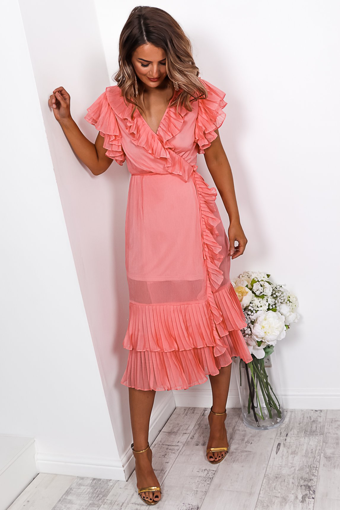 Baby Doll - Midi Dress In PINK - DLSB