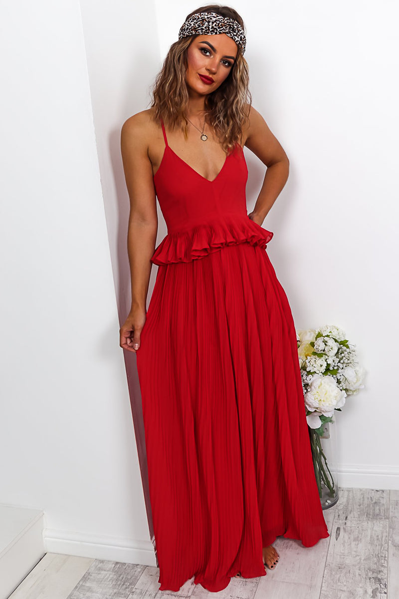 Temptress  - Maxi Dress In RED