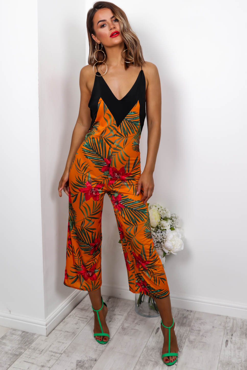 Got Your Back - Jumpsuit In ORANGE/FLORAL