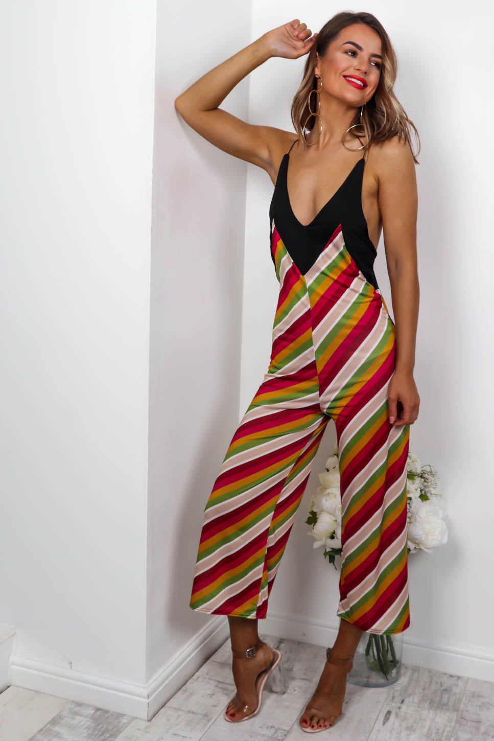 Got Your Back - Jumpsuit In STRIPE