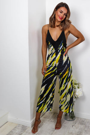 Got Your Back - Jumpsuit In YELLOW/TIGER