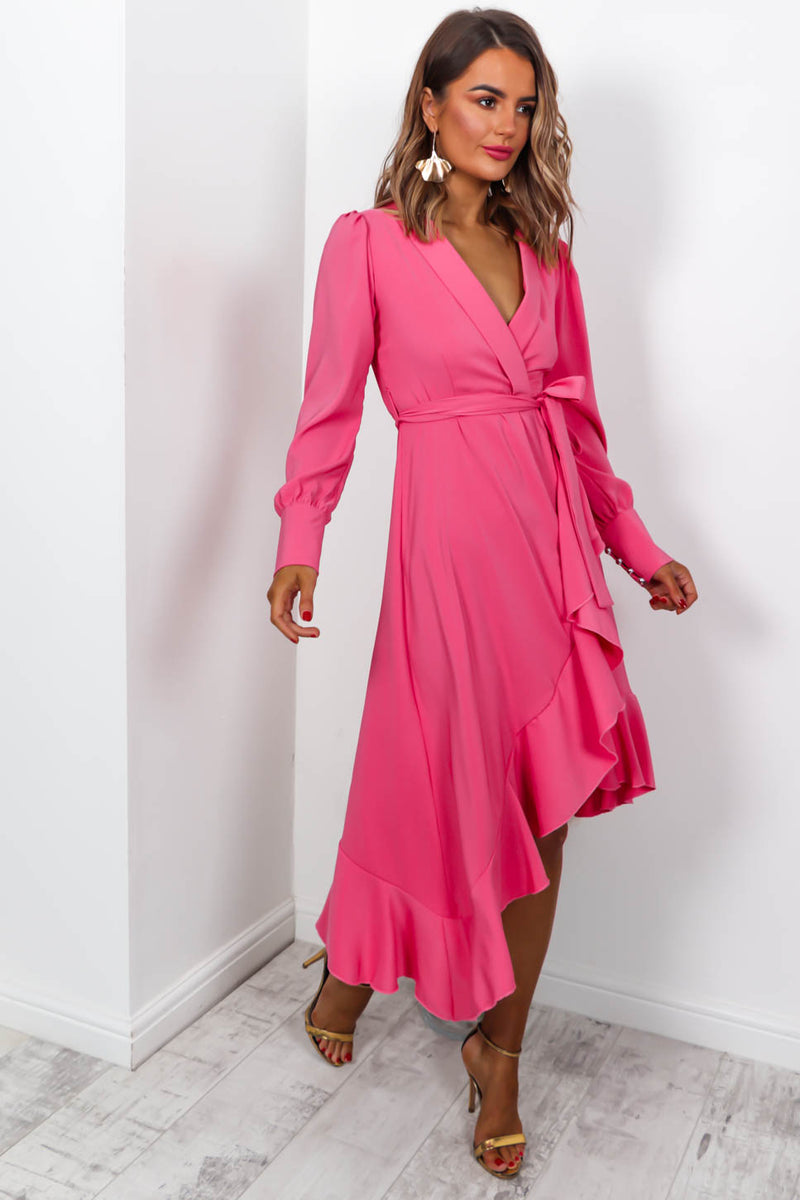Miss Monroe - Dress In FUCHSIA/PINK