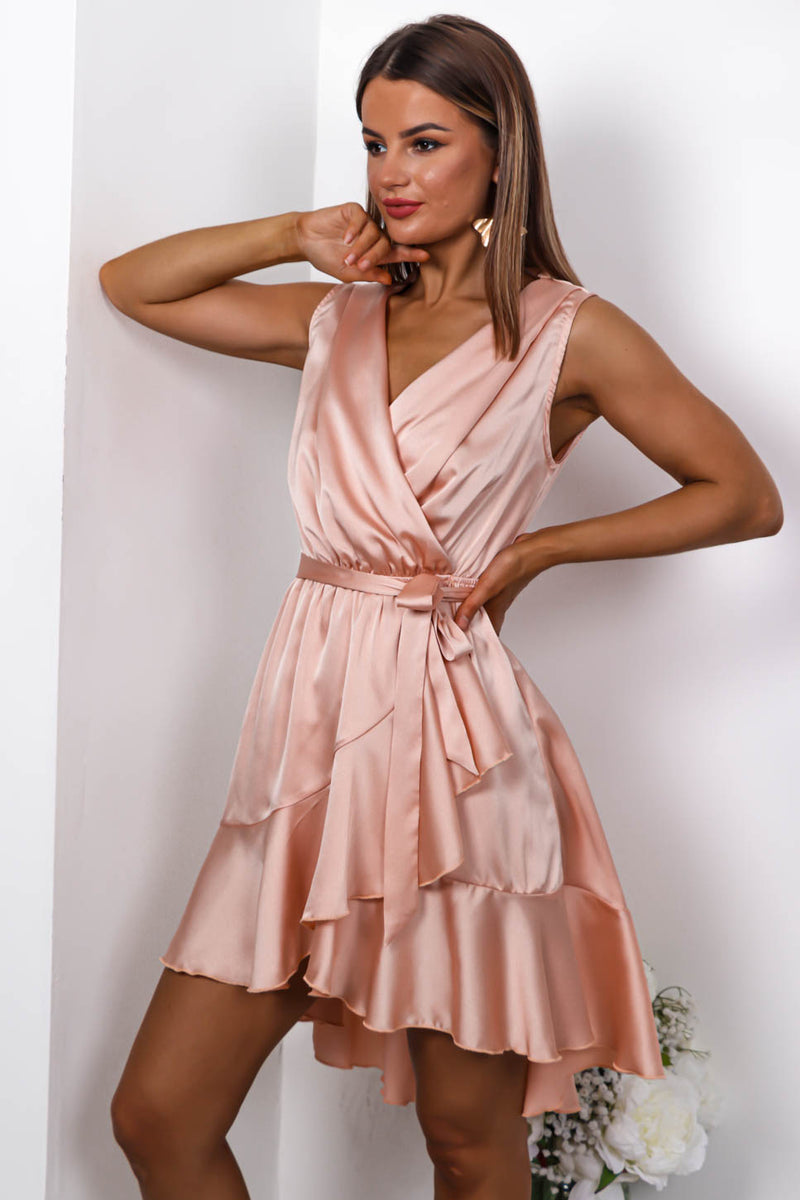 Anniversary - Wrap Dress In BLUSH - DLSB