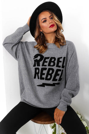 Rebellious - Jumper In GREY