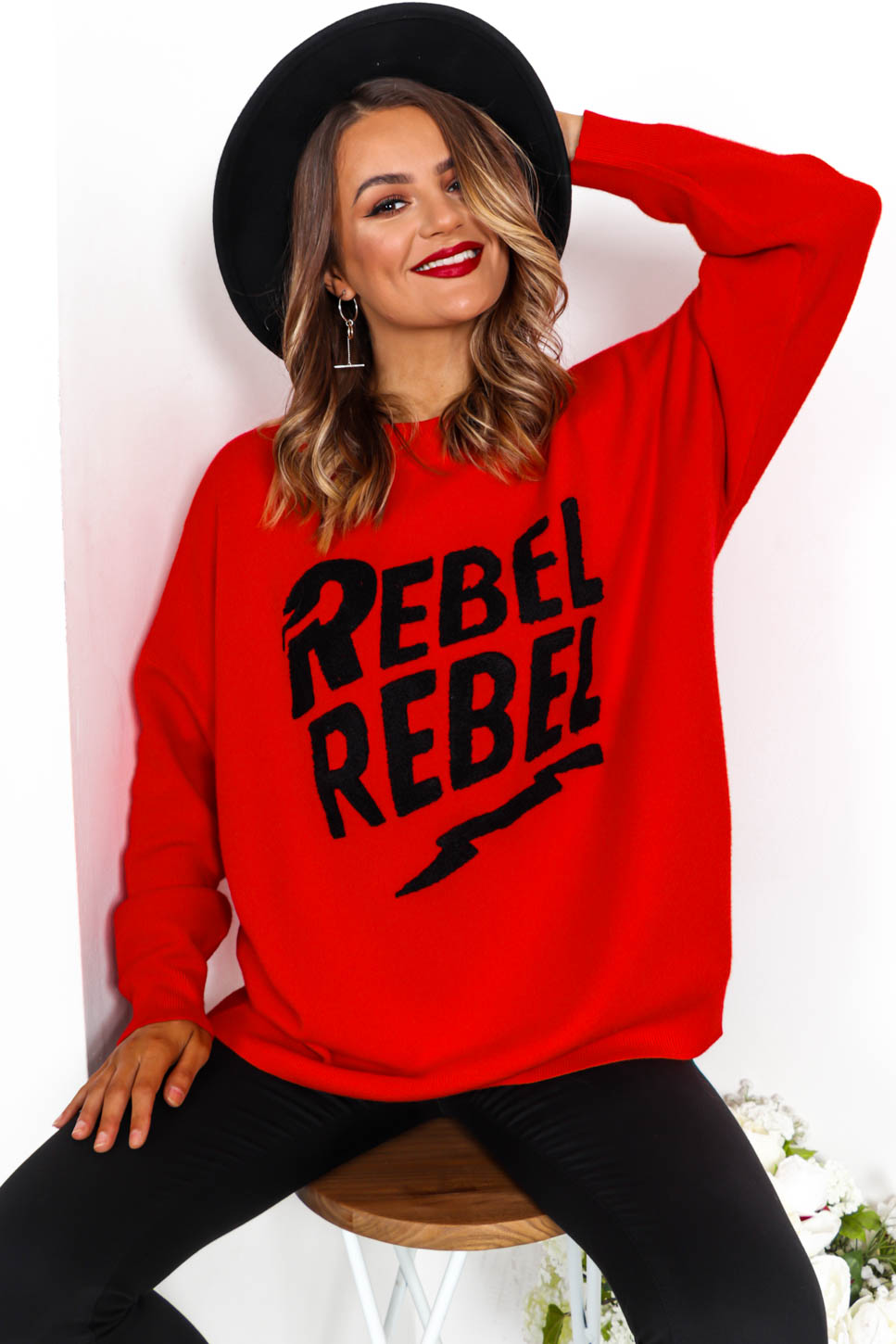 Rebellious - Jumper In RED