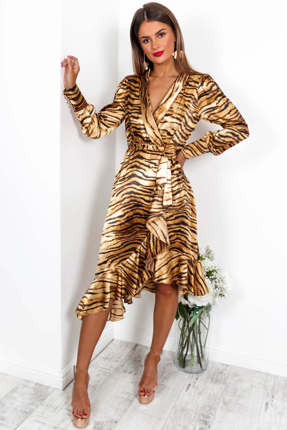 Miss Monroe - Dress In BEIGE / TIGER