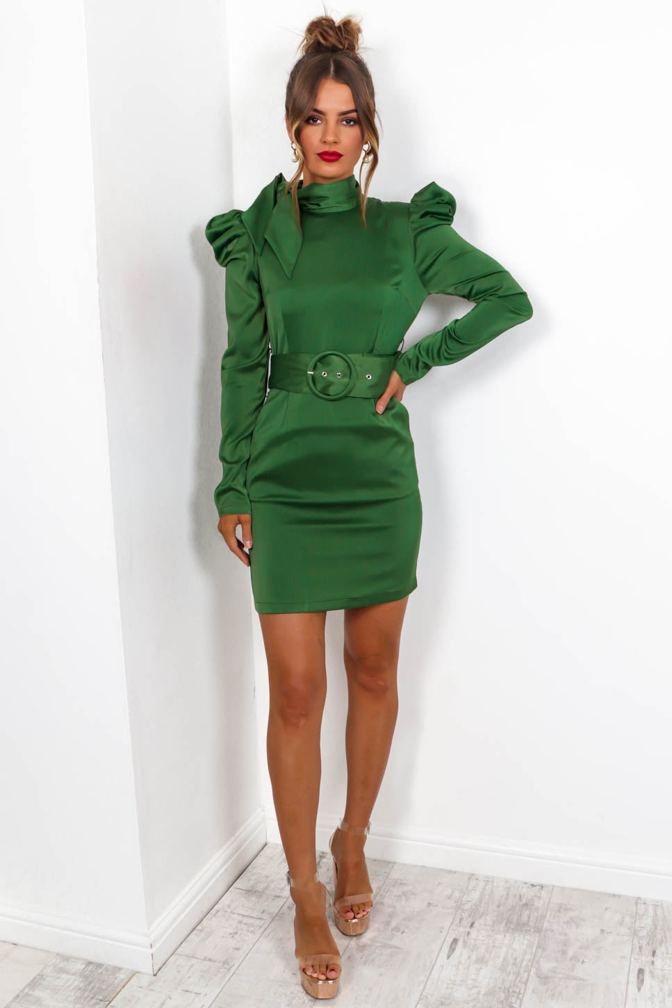 Love Struck - Mini Dress In EMERALD