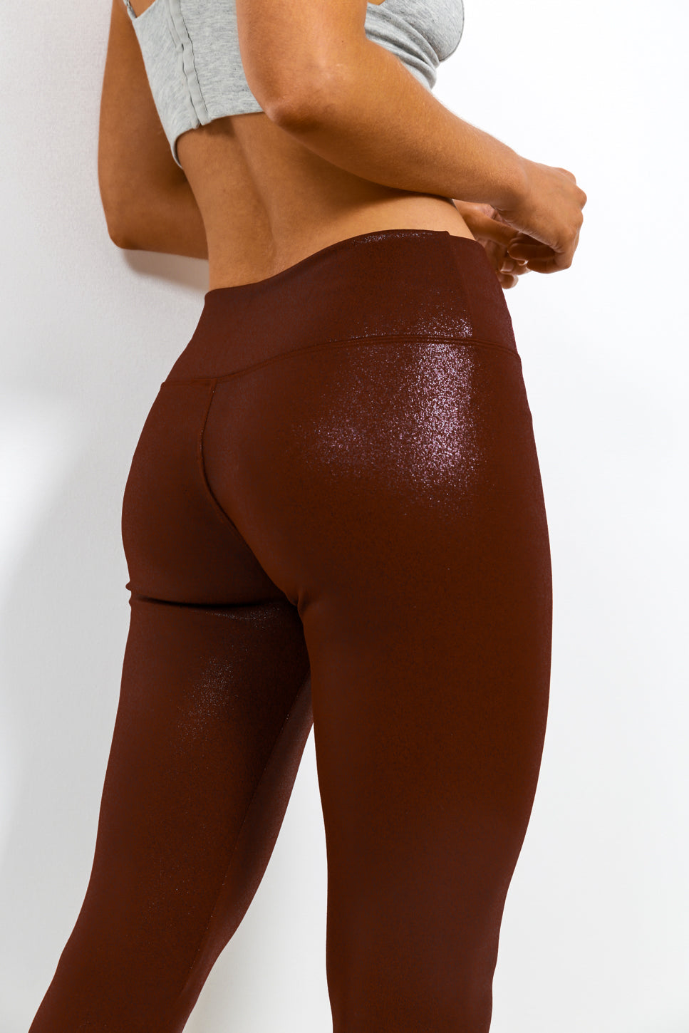 Down To Earth - Leggings In MAROON