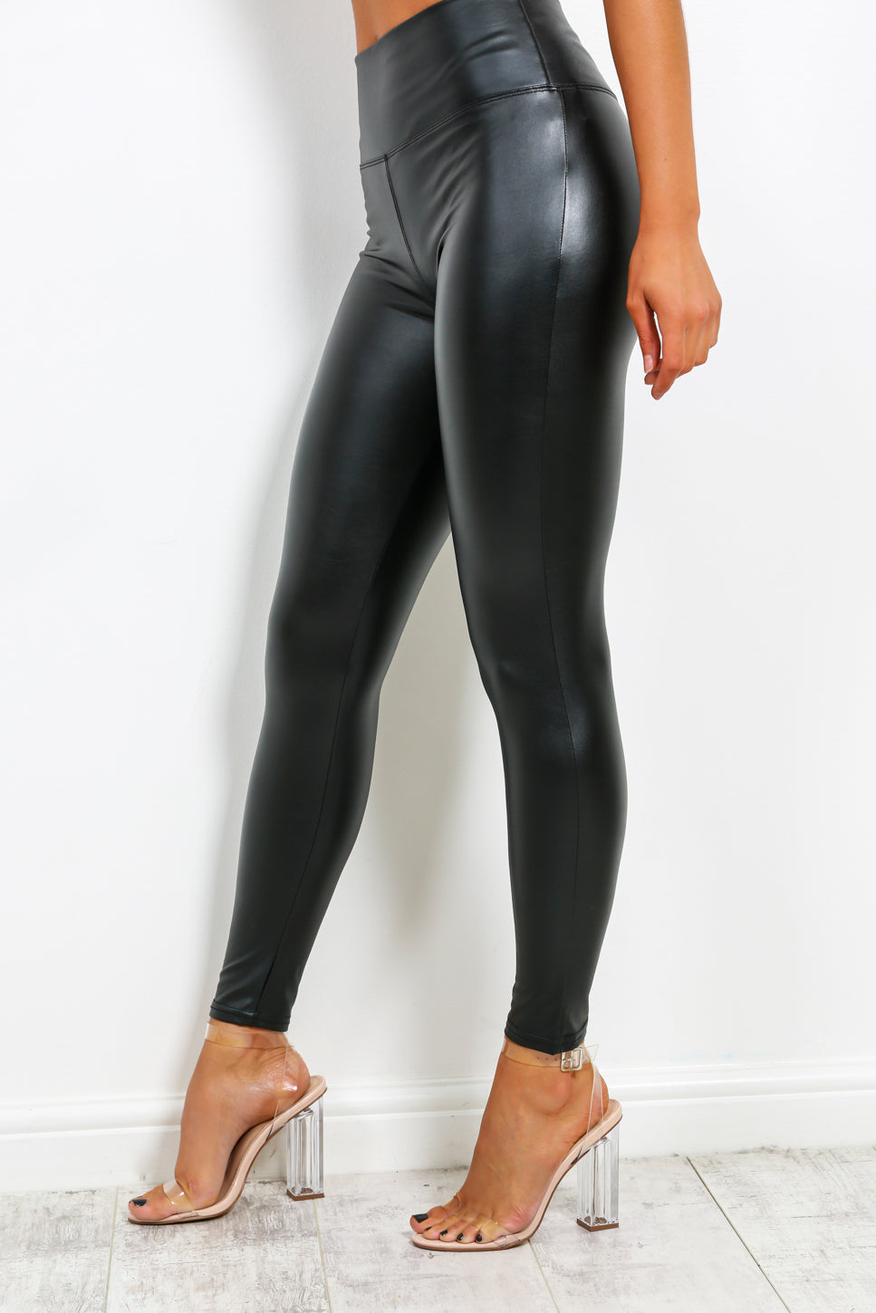 Leather Let Me Go - Black Leggings