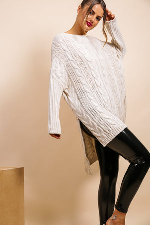 What's Knit to Love - Jumper In BEIGE