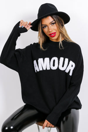 Je t'aime - Jumper In BLACK
