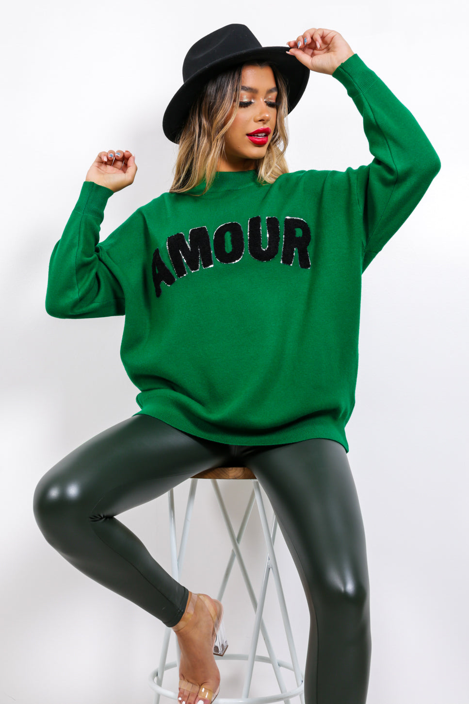 Je t'aime - Jumper In GREEN