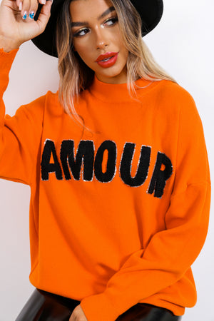 Je t'aime - Jumper In ORANGE