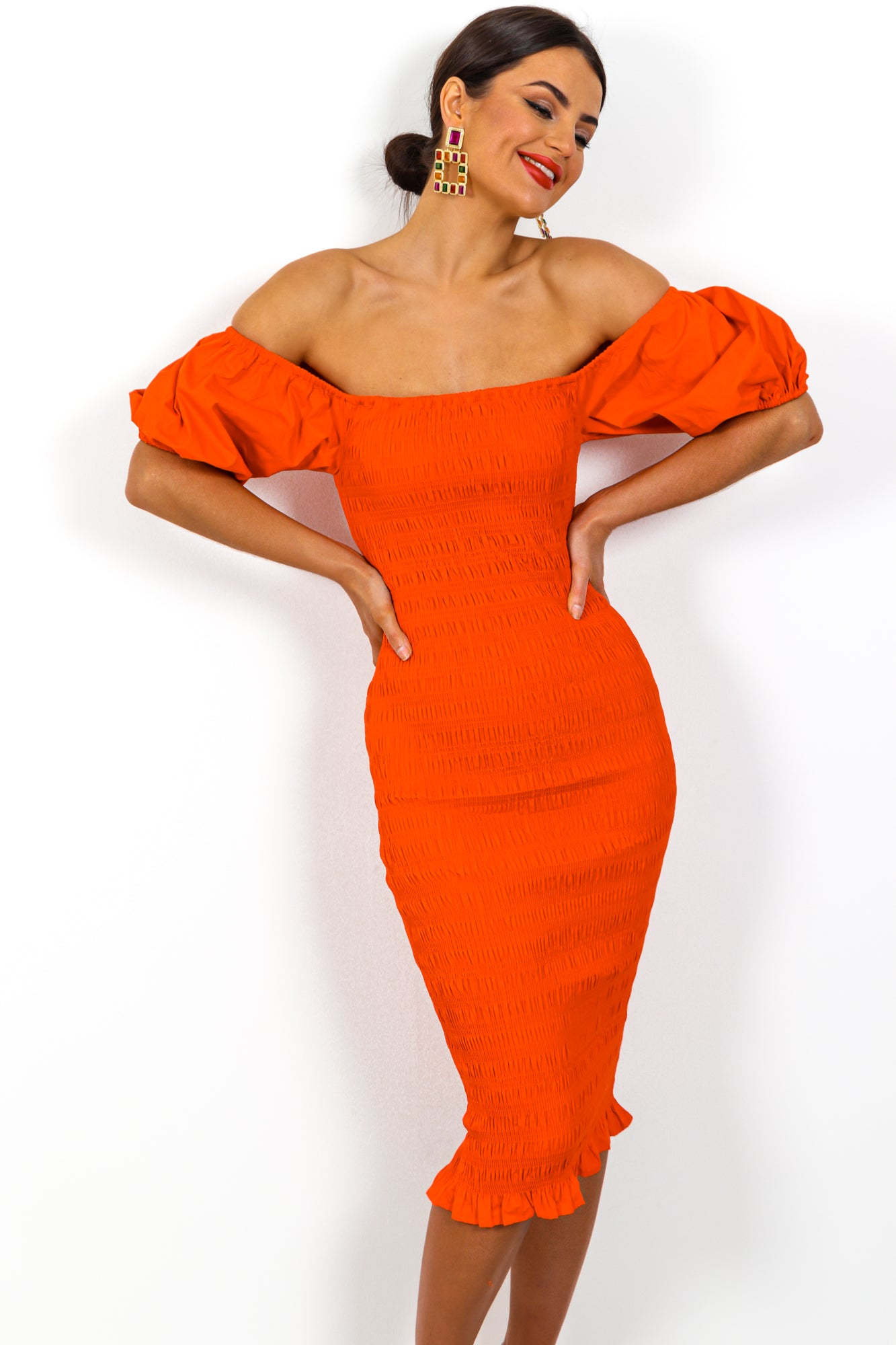 Date Night - Dress In ORANGE