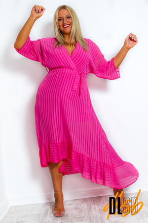 Dolce Vita - Hot Pink Midi Dress