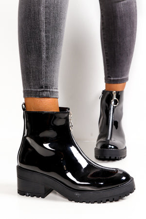 Dollar Shine - Black Patent Boot