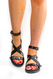 Don't Cross The Line - Black Sandals