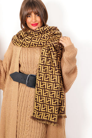 Don't Know The Scarf Of It - Beige Brown Scarf