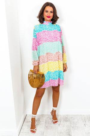 Don't Blend In - Dress In MULTI/SPOT