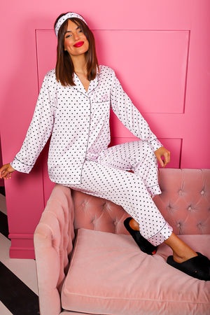Dream Big - Pink Black Heart Pyjama Set