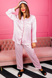 Dream Big - Pink Wine Heart Pyjama Set