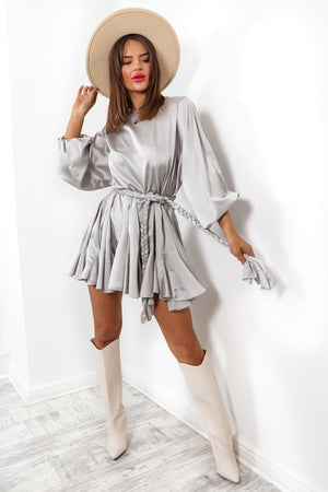 Drive You Crazy - Silver Mini Dress