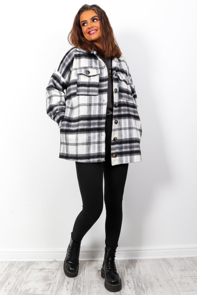 Editors Pick - Black Check Shacket