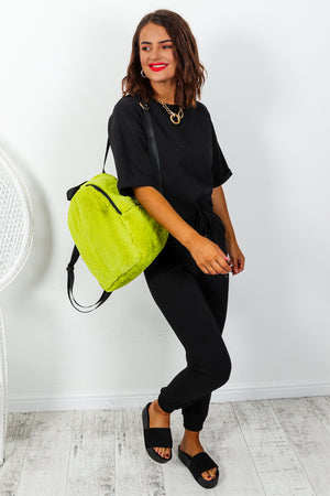 Love Me Back - Backpack In LIME