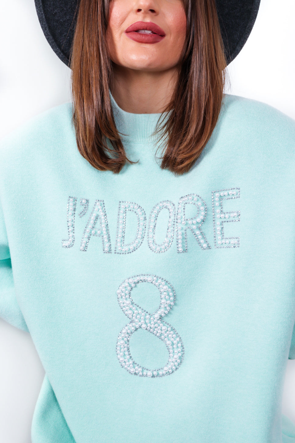 Favourite Pearl - Mint Knitted Jumper