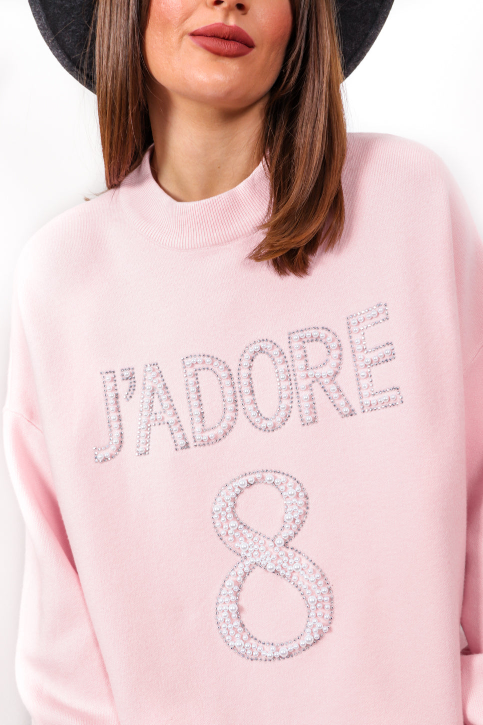 Favourite Pearl - Pink Knitted Jumper