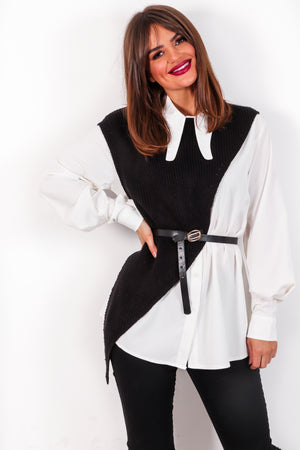Feeling Shirt - Black White Co-ord
