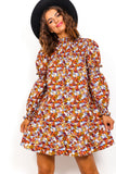 Floral Delight - Multi Floral Print Smock Dress