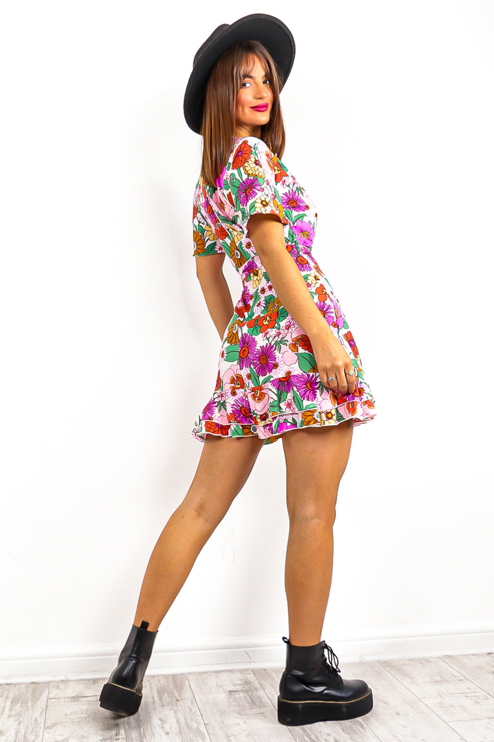 Flower Up - Lilac Floral Mini Dress
