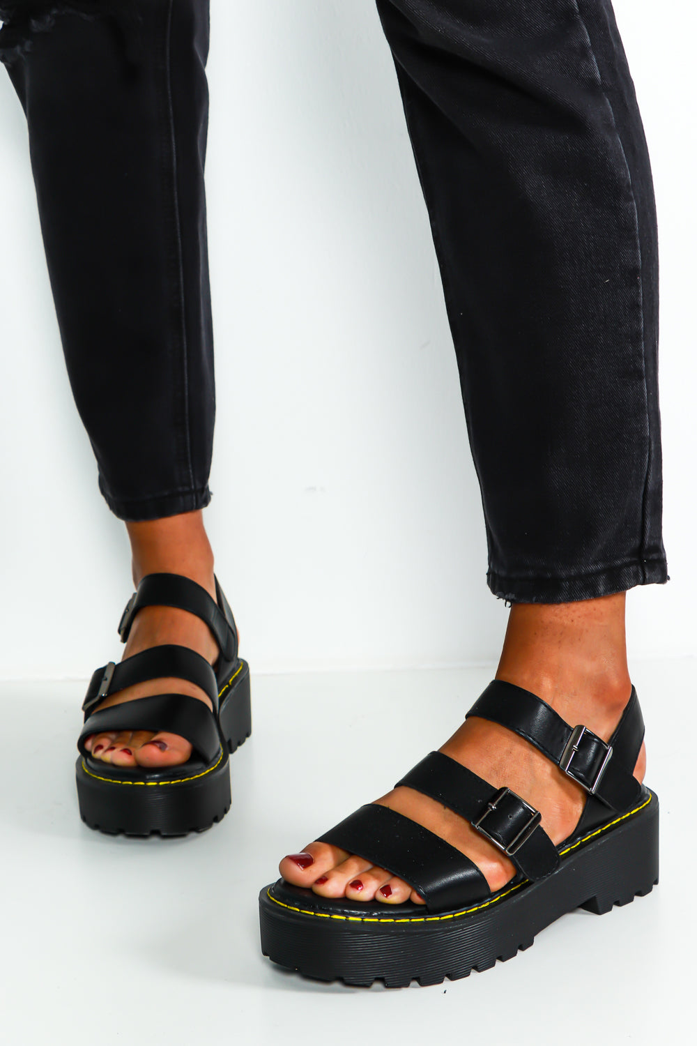 Step Aside - Sandals In BLACK