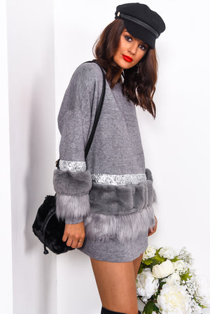 Fluff And Ready - Jumper In GREY