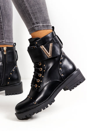 Gold Digger - Black Gold Detail Boot