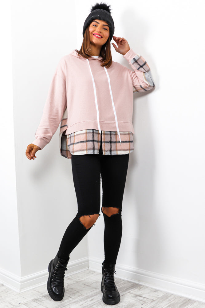 Good In The Hood - Blush 2 In 1 Shacket Hoodie