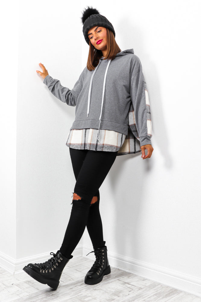 Good In The Hood - Grey 2 In 1 Shacket Hoodie