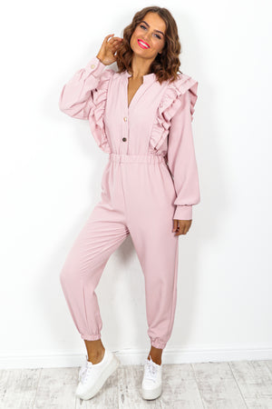 Blush Ruffle Jumpsuit