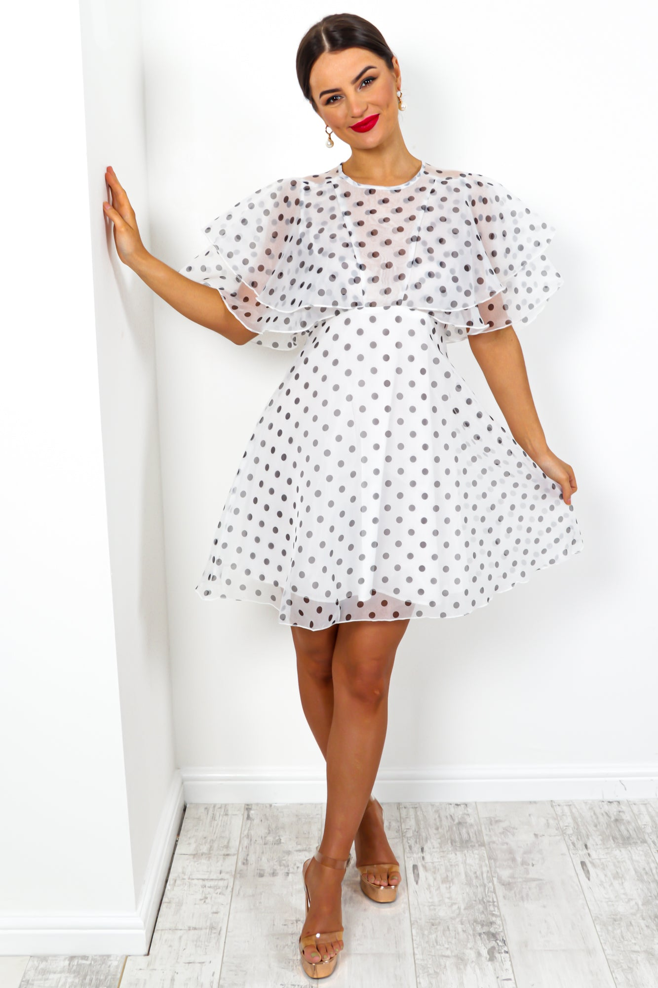 Hot To Dot - Dress In WHITE