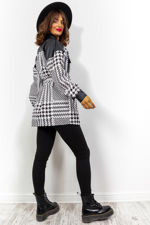 How Deep Is Your Love - Black White Multi Print Shacket